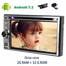 6.2 Android 7.1 Octa-core 2din GPS Stereo Car Radio in Dash Car dvd Player support OBD2,TV,DVR,CAMERA+Front&backup camera