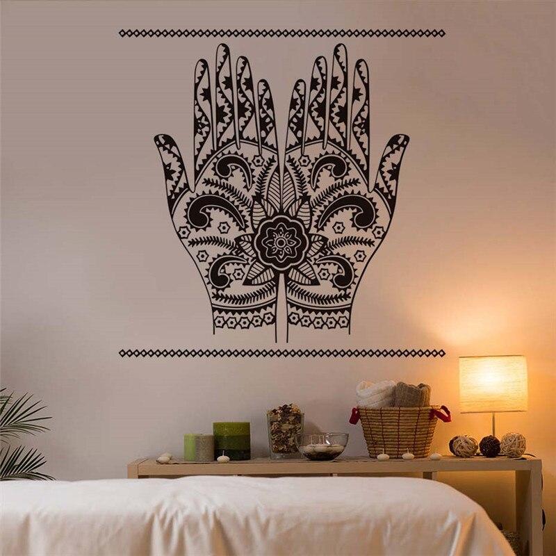 Арабский исламский хамса руки настенные стикеры DIY Съемные Искусство домашний декор де parede adesivo виниловая наклейка на стену для спальни