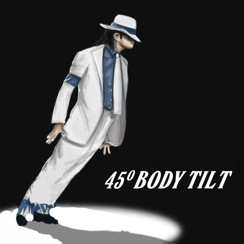 Body Tilt 45, The Lean 1, Only Gimmicks (Förbered dig själv) Magic Tricks Stage Magic Props Professionell Trollkarl Trick