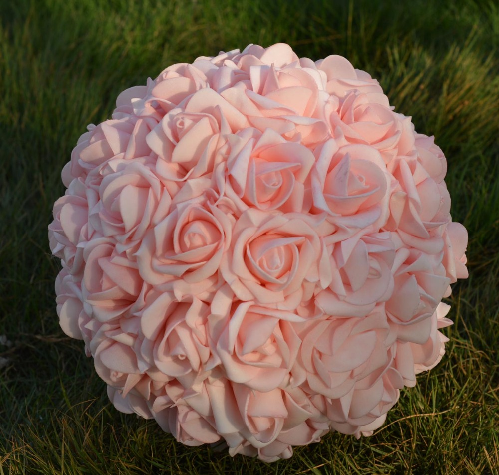 9 23cmartificial Rose Kissing Flower Ball Wedding Flower