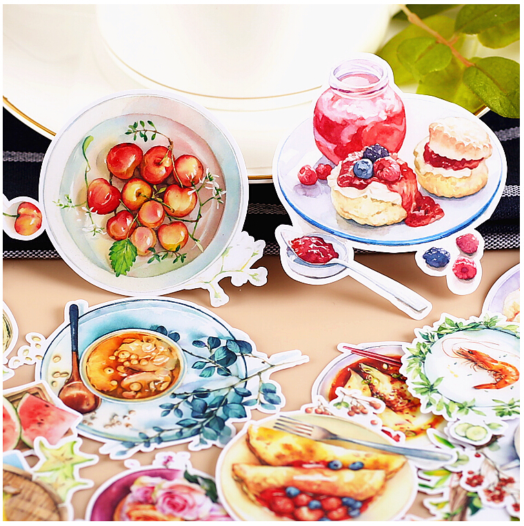15pcs Creative Kawaii Self-made Time Food Stickers / Beautiful Stickers /Decorative Sticker /DIY Craft Photo Albums