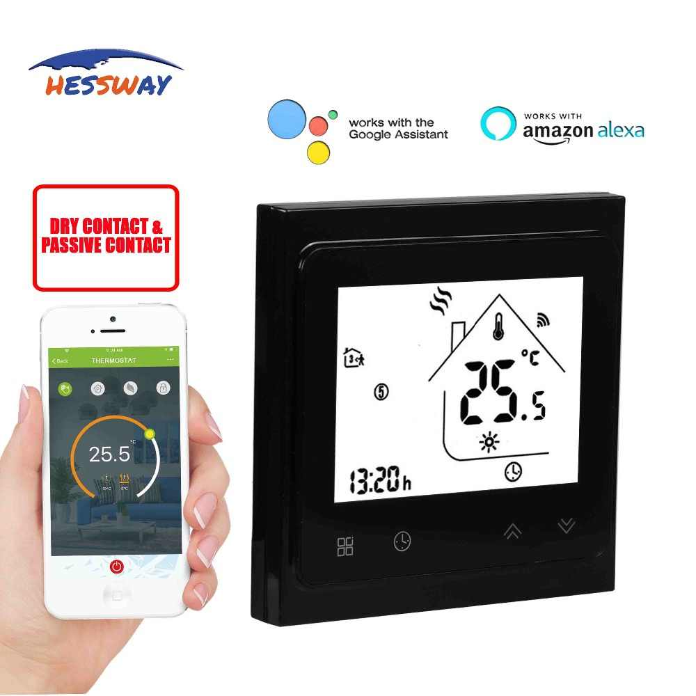 HESSWAY TUYA Smart chip valve radiator room THERMOSTAT WIFI for gas boiler  Works with IFTTT Alexa Google home