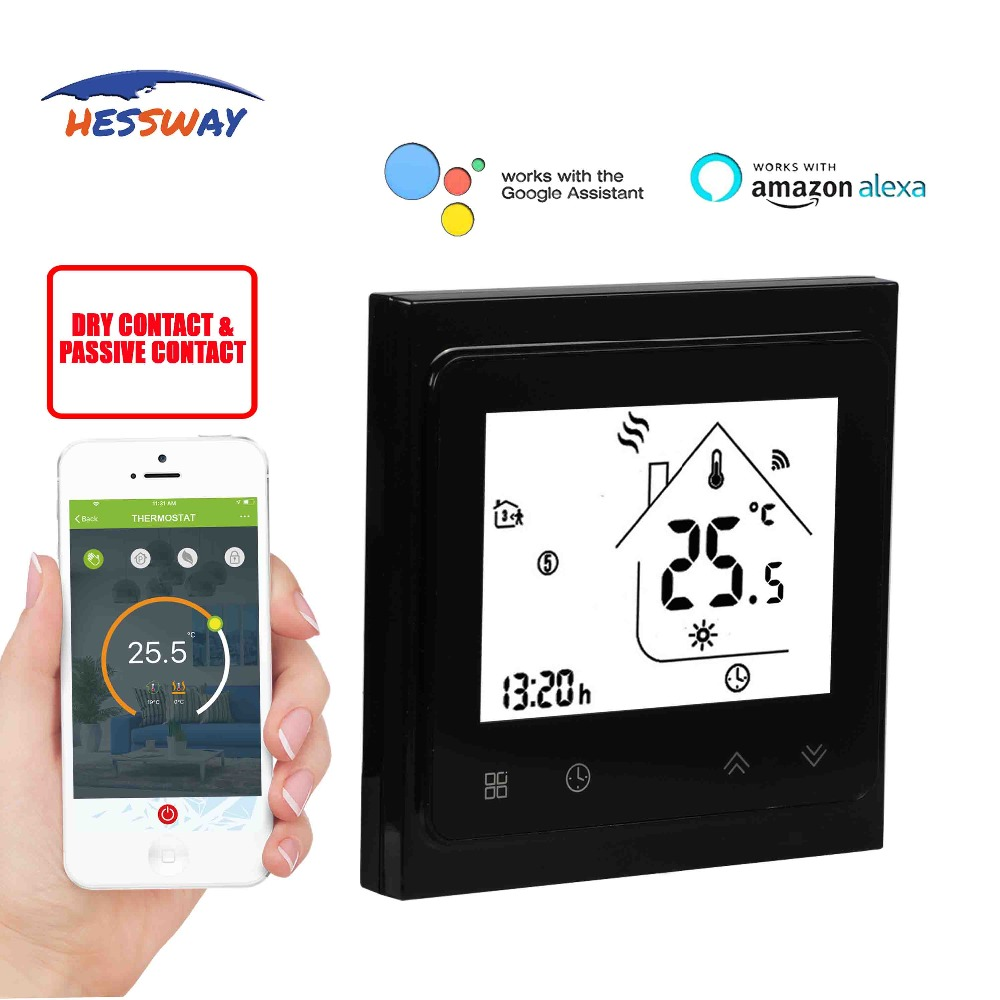 HESSWAY TUYA Smart chip valve radiator room THERMOSTAT WIFI for gas boiler Works with IFTTT Alexa Google homeHESSWAY TUYA Smart chip valve radiator room THERMOSTAT WIFI for gas boiler Works with IFTTT Alexa Google home