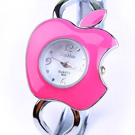 Apple Shaped Fashion lady Quartz Bracelet Watch Good Quality