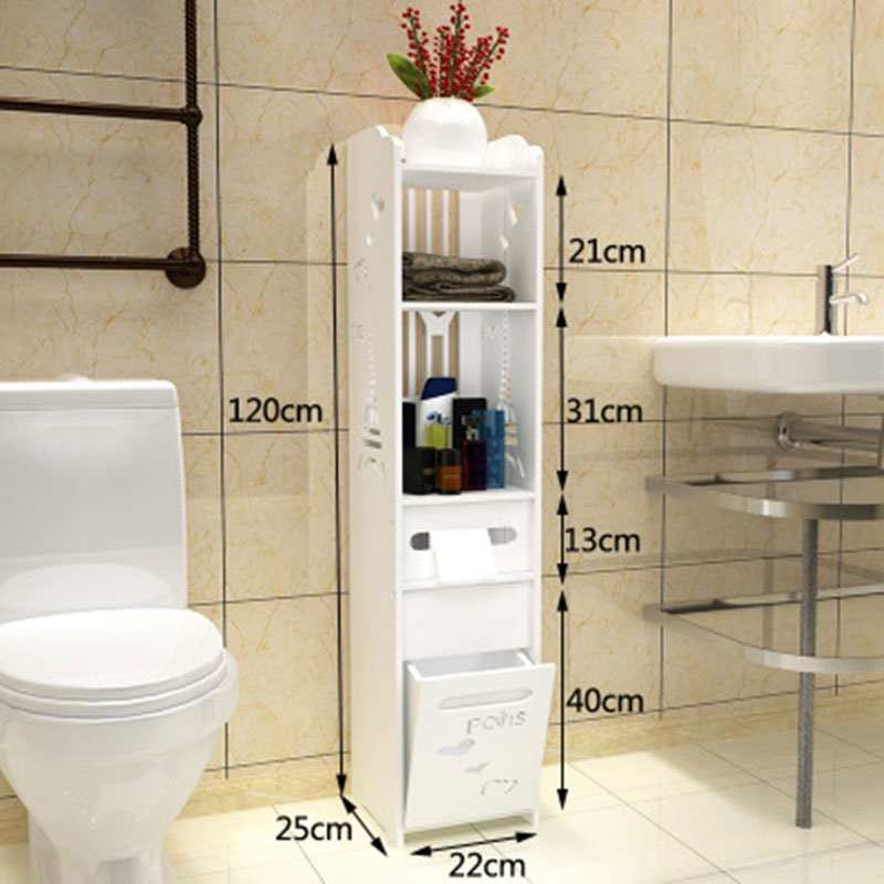 все цены на Modern Simple Bathroom Vanity Floor Standing Storage Cabinet Folding Toilet Rack Washbasin Shower Corner Shelf