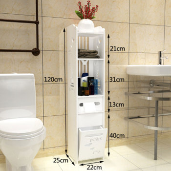 Modern Simple Bathroom Vanity Floor Standing Storage Cabinet Folding Toilet Rack Washbasin Shower Corner Shelf