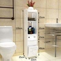 Modern Simple Bathroom Vanity Floor Standing Storage Cabinet Folding Toilet Rack Washbasin Shower Corner Shelf