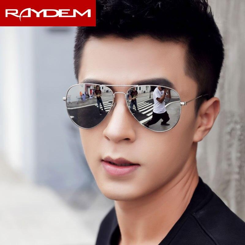 bb4ca33b5e Clásico de 2018 piloto polarizadas para hombres, gafas de aviación hombre  gafas de sol espejo revestimiento CR39 lentes de aleación de Marco grande  al aire ...
