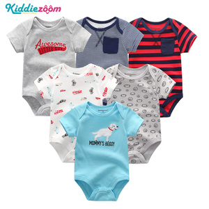 Image 3 - Newborn Boy Photography Props New Baby Girl Clothes Cotton Baby Bodysuits bebe Boy Clothes Body for Infants 6PCS/lot New 0 1Year
