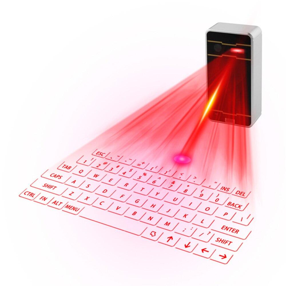 Laser bluetooth clavier Sans Fil Virtuel De Projection clavier Portable pour Iphone téléphone intelligent android Ipad Tablet PC Portable p3