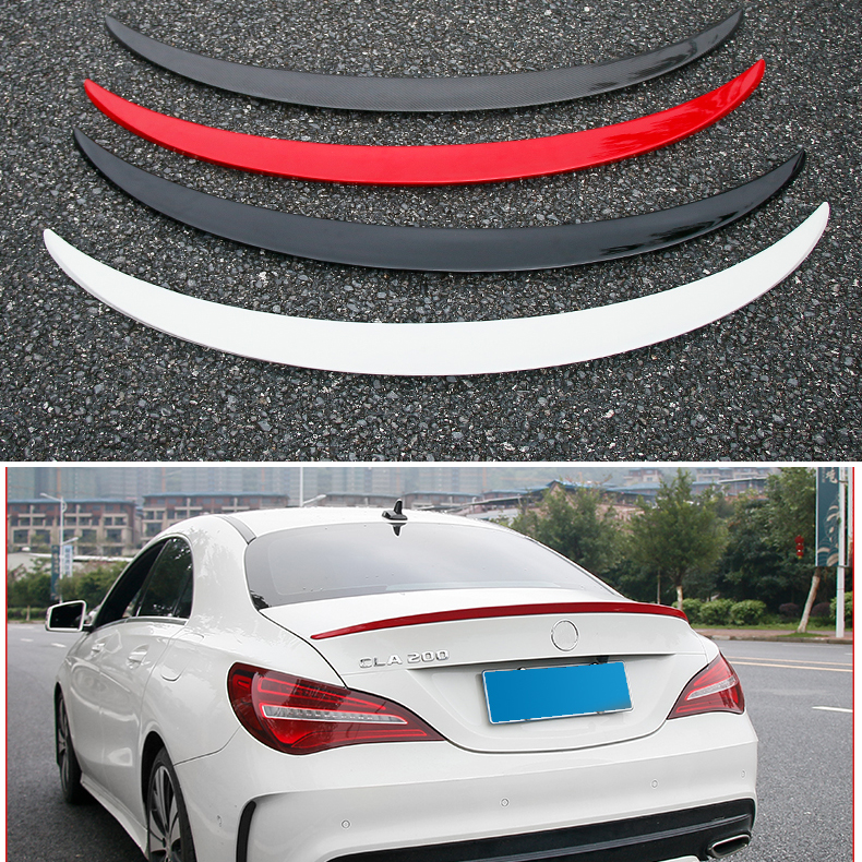 For w117 Mercedes CLA 200 250 260 Spoiler CLA45 C117 Carbon Fiber Rear Trunk Wings Spoiler cla for mercedes benz cla class w117 cla180 cla200 cla250 cla45 amg carbon fiber front lip splitter flap canard fits sporty car amg