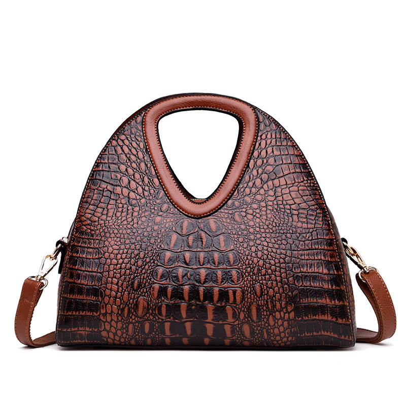 2019 New Alligator Women Handbag Brand Luxury Leather Half Moon Women Shoulder Bags Designer Ladies Hand Bags Sac A Main Femme in Shoulder Bags from Luggage Bags