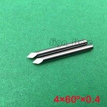 60 Angle 4*0.4mm tip- Sharp Three Edge CNC Router Carving Tool, Engraving Bits, 10pcs Carbide Cutting Machine Tools Free Ship