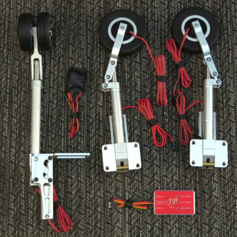 고정 날개 항공기 모델 용 12mm 스케일 메탈 랜딩 기어 세트 트랙션 휠 브레이크 후퇴 랜딩 기어 세트-에서부품 & 액세서리부터 완구 & 취미 의  그룹 1