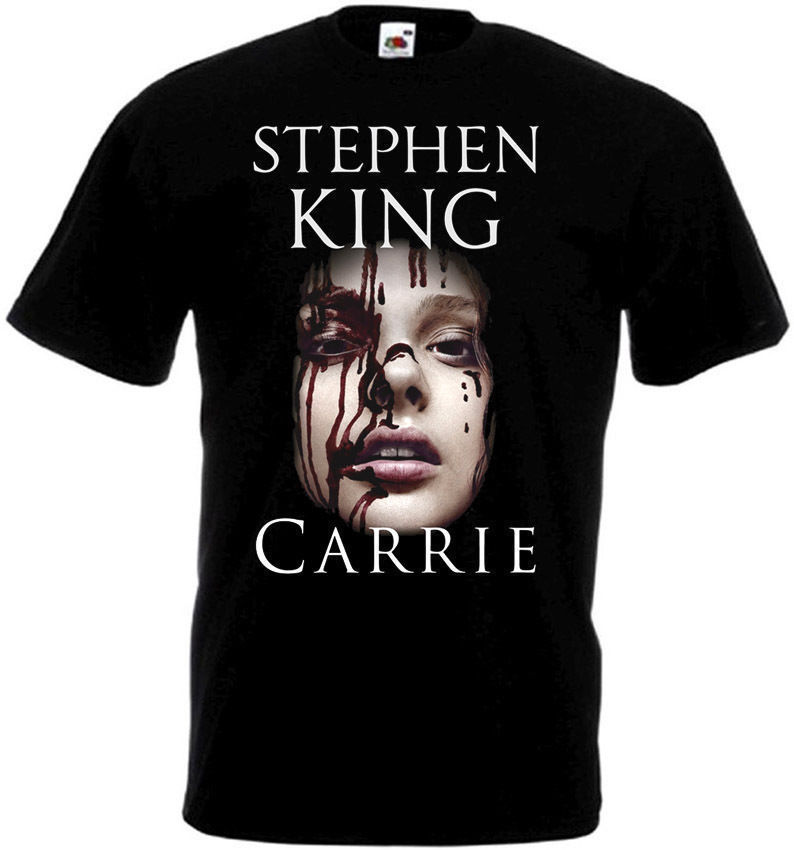 Carrie Horror Movie Poster Homme Funny T Shirts Fitness Clothing Tshirt Homme Humour T Shirt Skull T-Shirt For Men