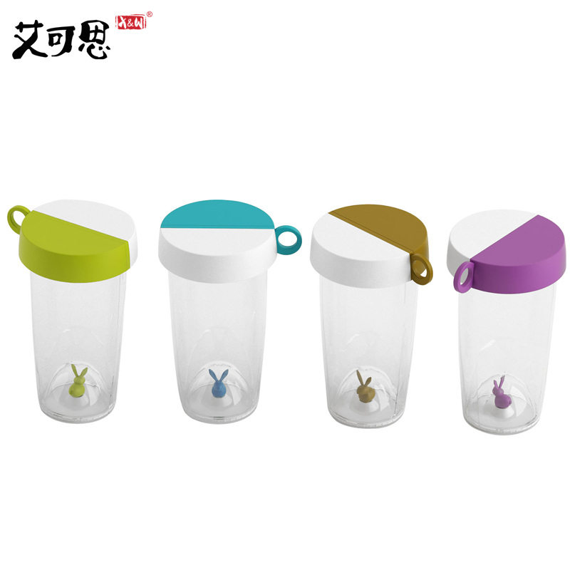 Rabbit Portable Sealed Juice Water Bottle Tea cup Coffee Mug Glass Milk Cup water Cups Leak