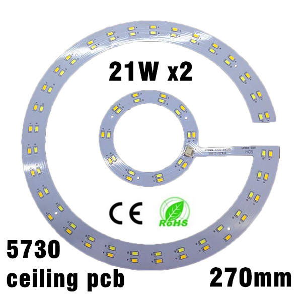 21w x2 SMD 5730 LED Ceiling Light PCB LED Ring Light Panel Remoulding Plate Retrofit Magnet Board With Magnet Screw And Driver 21w 3500k 2500lm 322 smd 3528 led warm white light ceiling lamp w magnet silver ac 110 250v
