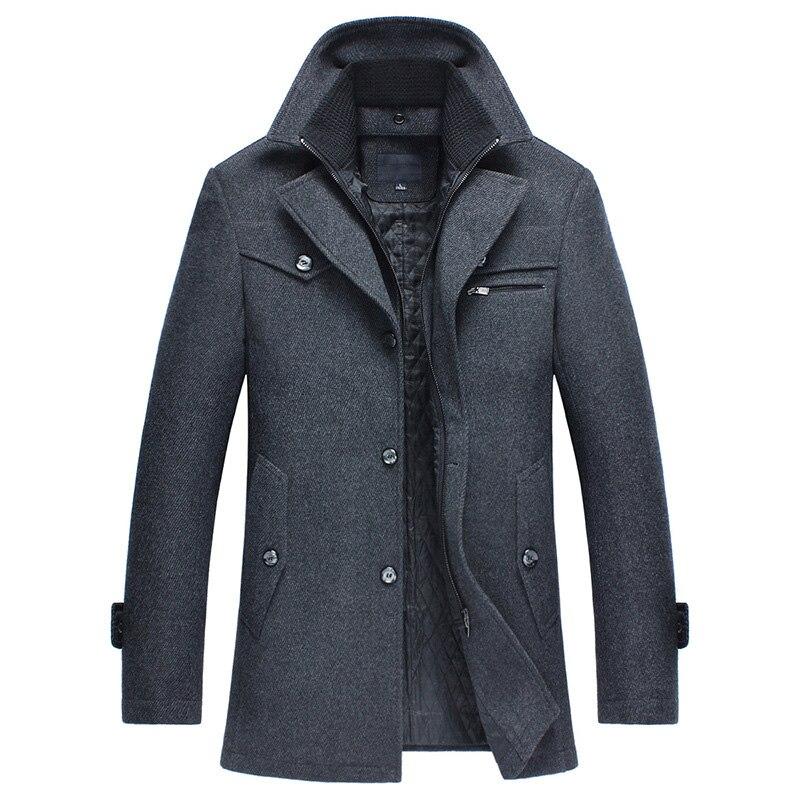 Nouveau hiver hommes laine manteau Slim vestes hommes décontracté Business chaud veste d'extérieur hommes épaissir manteau grande taille M ~ 4XL mâle veste