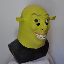 High Quality Sale Shrek Face Mask Head Latex for Holiday party