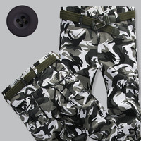 Mens Spring Autumn Camo Pants Army Military Camouflage Cargo Pants High Quality Trousers Man Grey Camo