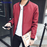 New Fashion Jaquetas Masculino 2017 Mens Autumn Jacket Zipper Coats Long Sleeve Thin Bomber Jacket Men
