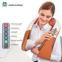 JinKaiRui Electrical U Type Shiatsu Back Neck Shoulder Body Massager Infrared Heated Kneading Car/Home Massagem