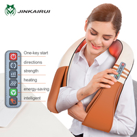 JinKaiRui Electrical U Type Shiatsu Back Neck Shoulder Body Massager Infrared Heated Kneading Car/Home Massagem