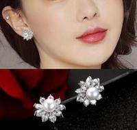 Fashion Rose Stud Earrings For Women Earring Earings 925 Sterling Silver Jewelry Earing Brincos Brinco Oorbellen Love Gift