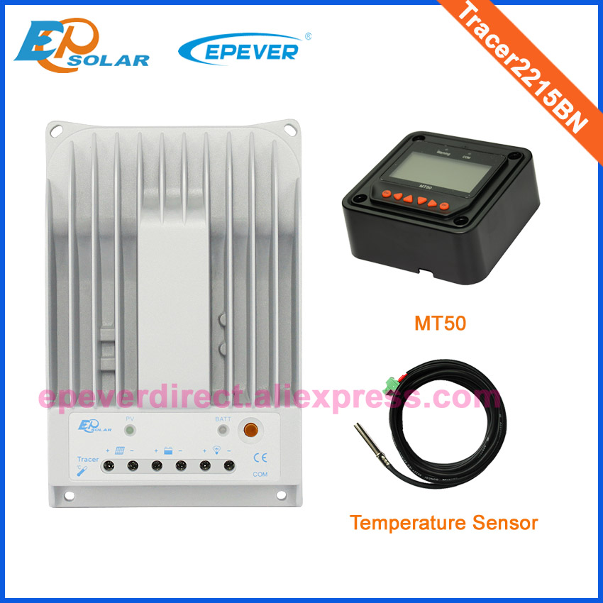 Solar charger 20A Tracer2215BN controller mppt with MT50 remote meter and temperature sensor 12v/24v auto typeSolar charger 20A Tracer2215BN controller mppt with MT50 remote meter and temperature sensor 12v/24v auto type