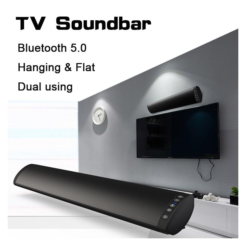 Bluetooth 5.0 FM Soundbar Wireless Speaker 20W Home Theater Column Surround Sound System Stereo Wall-Mounted SpeakerBluetooth 5.0 FM Soundbar Wireless Speaker 20W Home Theater Column Surround Sound System Stereo Wall-Mounted Speaker