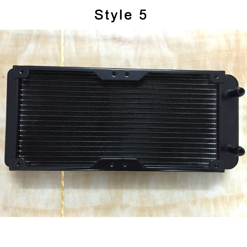 Купить с кэшбэком Aluminum Computer Radiator Water Cooling Radiator Water Cooler Tubes Heat Exchanger CPU Heat Sink For Laptop Desktop 80-360MM