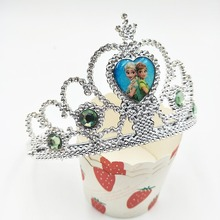frozen crown Ice And Snow Princess/Anna Elsa Cartoon Theme Headwear Baby Shwer Favor Party Decoration Girl Birthday disney