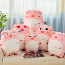 hot deal buy creative cute stuffed & plush animals toy down cotton expression pig pillow and soft can pass the doll children's toys sale