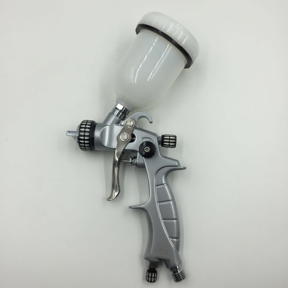 SAT1216M professional high quality mini spray gun for car painting nozzle 1.0mm machine pneumatic tools
