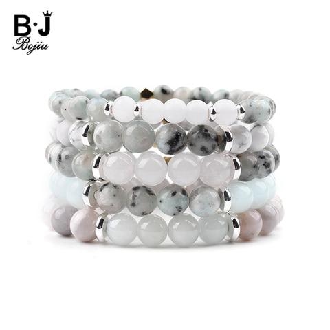 Купить женский браслет bojiu классический из натурального камня 8 мм
