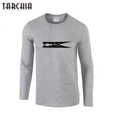TARCHIIA T Shirt Men Fashion Brand Clothing Men'S Clip Print Long Sleeve T Shirt Cotton Elastic Casual T-Shirt Male O-Neck Tops