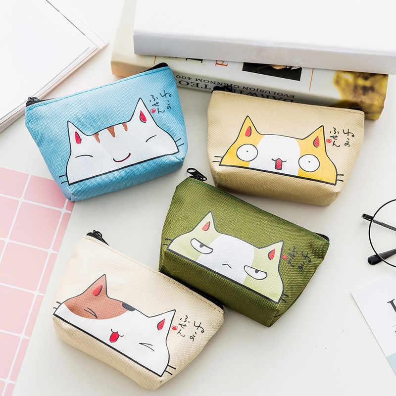 Кошельки для монет с мультяшным котом, сумка для хранения, женские кошельки, маленькие милые Чехлы для карт и ключей с животными, сумка для денег, сумки для девочек, для детей