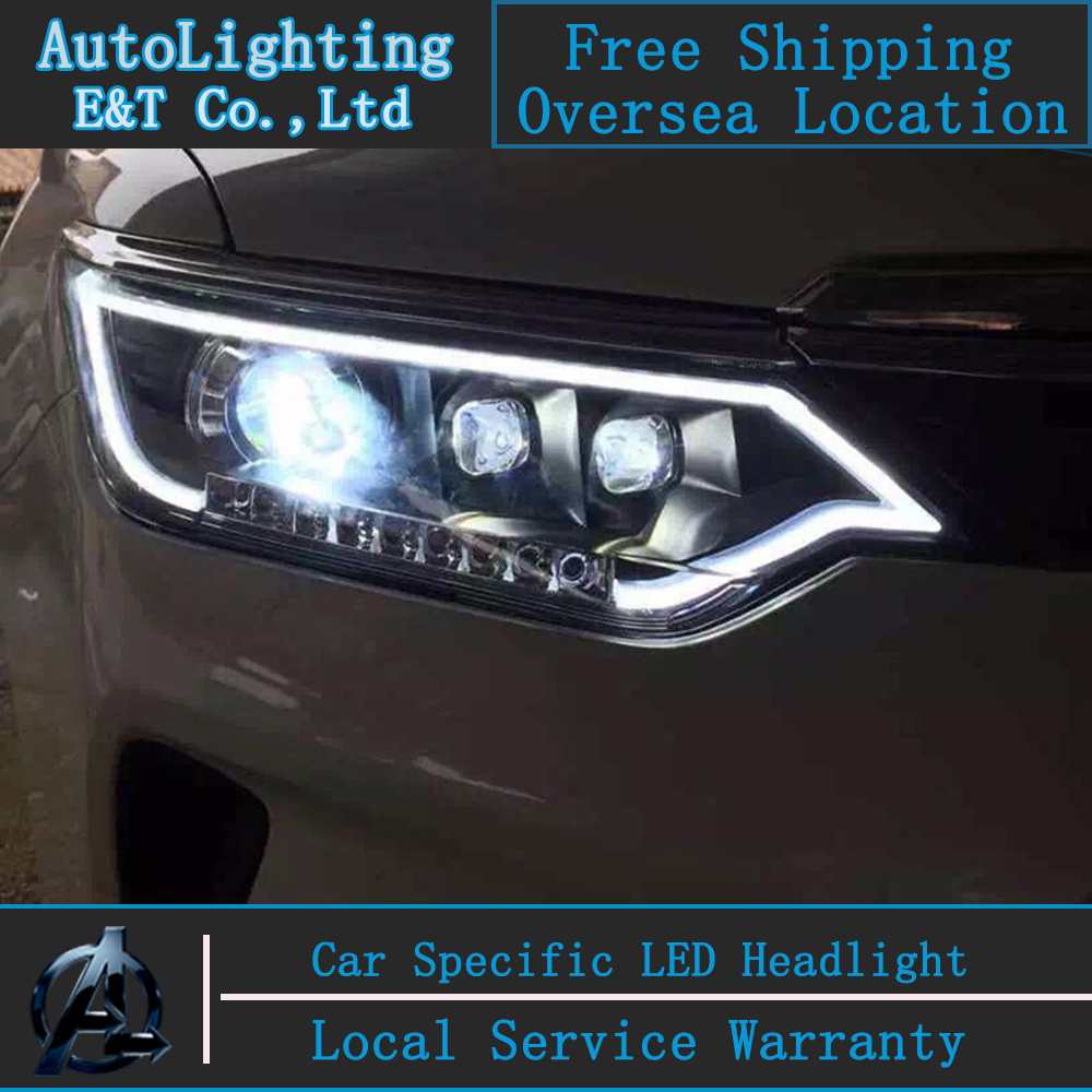 Car Styling Head Lamp for Toyota Camry Headlight assembly New Camry V55 led headlight 2015-2016 led drl H7  with hid kit 2 pcs. headlamp polishing paste kit diy headlight restoration for car head lamp lense deep clean compuesto pulidor uv protective liquid