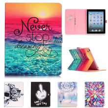 PU Leather Stand For Apple iPad 2 3 4 9.7'' Case with card slot Protector back cover For iPad 2 iPad3 Tablet Case for iPad 4 9.7 new fashion dandelion uk usa pattern wallet card pu leather stand case cover for ipad mini 4 mini4 with screen protector pen