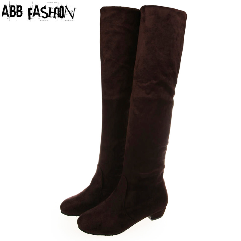 Suede Thigh High Flat Boots Promotion-Shop for Promotional Suede