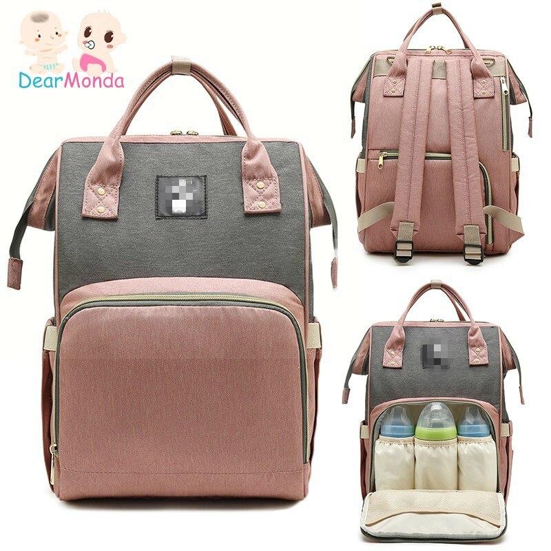 DEARMONDA Fashion Baby Diaper Bag Outdoor Travel Maternity Backpack Waterproof Mommy Nappy Bag Large Capacity Nursing Bags 2019