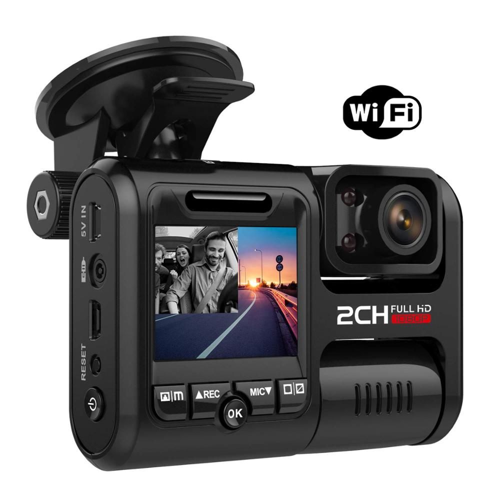 Pruveeo 4K 2160P WIFI Dual Lens Car DVR Sony IMX323 Sensor Night Vision Dual Camera D30H