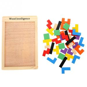 Image 5 - Rompecabezas de madera colorido para bebé, juguete educativo intelectual de maginación para niños