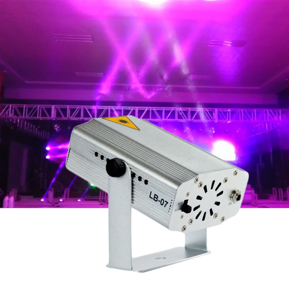 ICOCO New Mini DJ Laser Stage Lighting Light Disco Party Club Galaxy Projector
