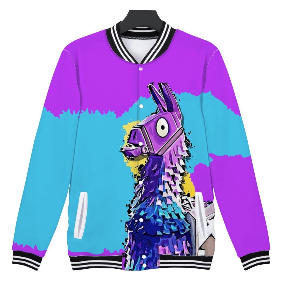 3D Fortnite baseball Jacket Women/Men Winter American TV Fortnite Fashion 3d Jackets Casual Bomber Hoodies Sweatshirt XXS-4XL