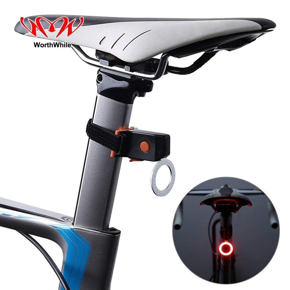 Lohnende Fahrrad Schwanz Licht Wiederaufladbare Berg Hinten LED Lampe Fahrrad Zubehör für Sicherheit Nacht MTB Road Radfahren Laufen