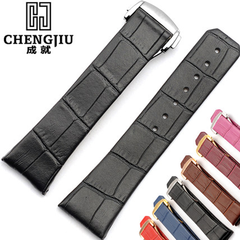 23mm Genuine Leather Watchband For Omega/Double Eagle Watches Women's Leather Watch Strap Watchband For Men Bracelet Montre b8 custom order italian leather watch strap 12 23mm blue watchband with free shipping