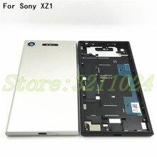 """5.2 """"금속 배터리 도어 소니 Xperia XZ1 G8341 G8342 배터리 도어 백 커버"""