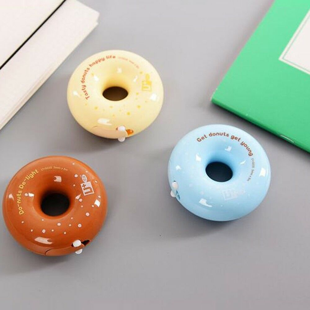 Colorful Cute Creative Donut Correction Belt Snail Shape Modification Tape Painting Office School Supplies Student Stationary