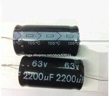 63v 2200 100uf 軸電解コンデンサ 2200UF 63V 18 × 36 ミリメートル (5 個)